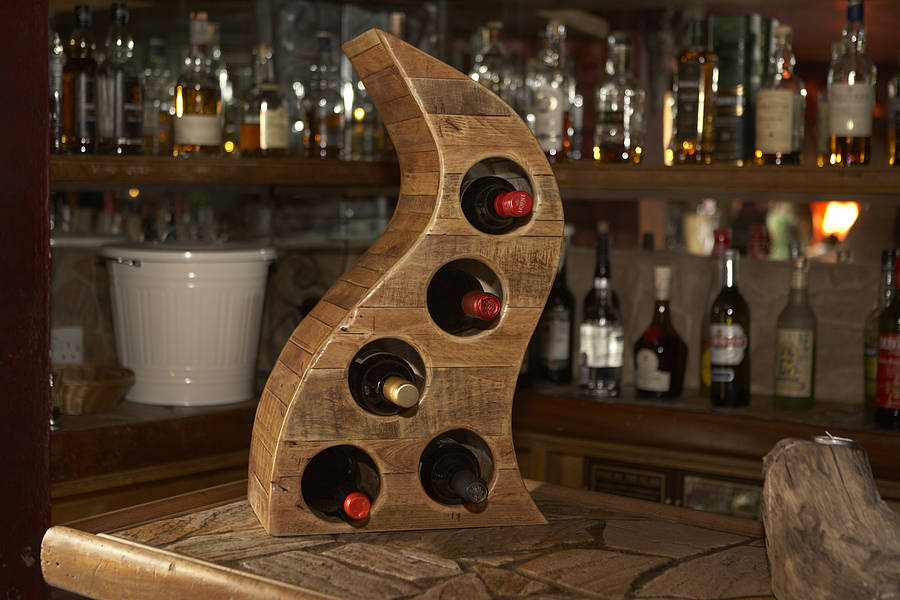 Picture of: small Wooden Wine Racks