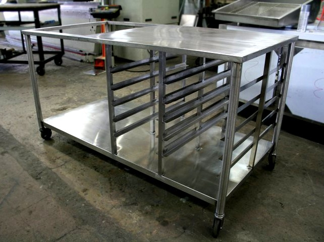 Picture of: small stainless steel prep table