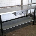 stainless steel prep table design