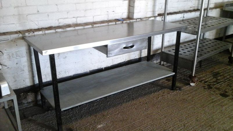 Picture of: stainless steel prep table design