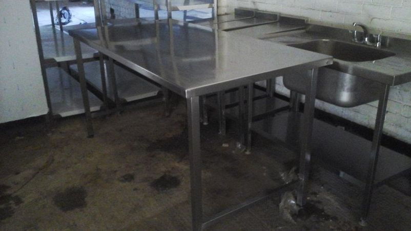 Picture of: stainless steel prep table for kitchen