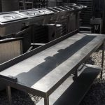 stainless steel prep table image