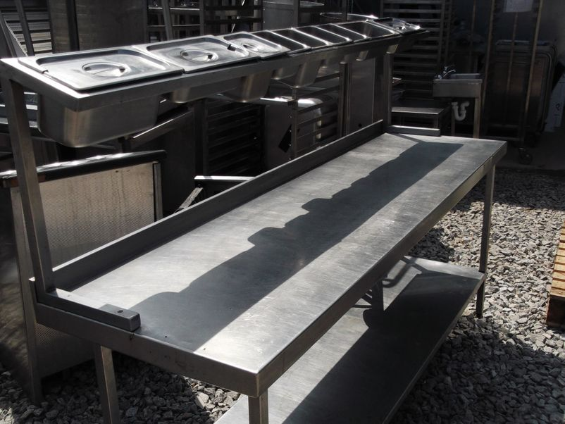 Picture of: stainless steel prep table image