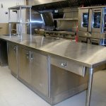 stainless steel prep table kitchen Commercial