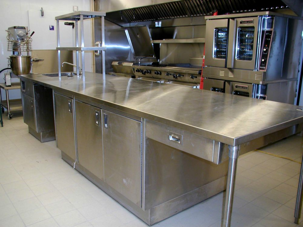 Picture of: stainless steel prep table kitchen Commercial