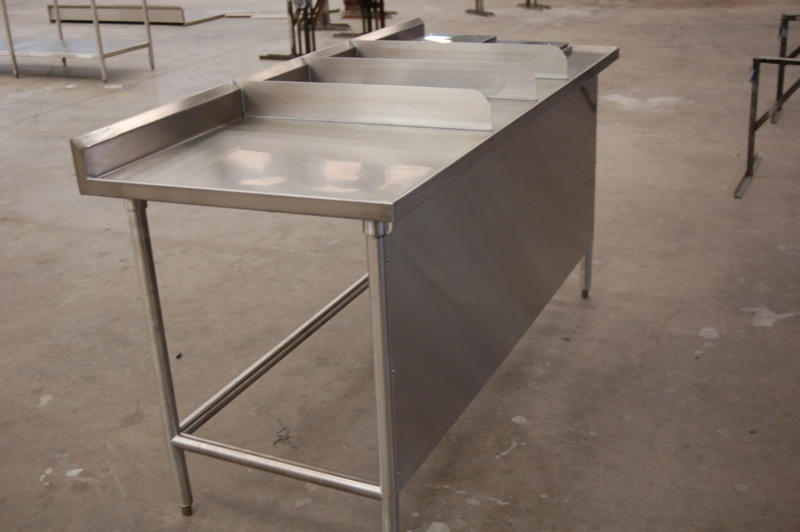 Picture of: stainless steel prep table kitchen