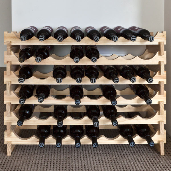 Picture of: unique Wooden Wine Racks