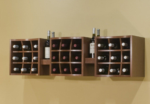 Picture of: wall Wooden Wine Racks
