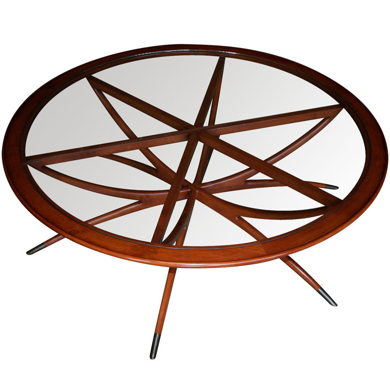 Picture of: wonderful round mid century modern coffee table