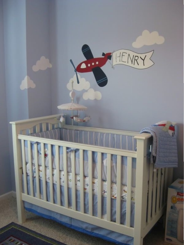 Picture of: Airplane Nursery Baby Room