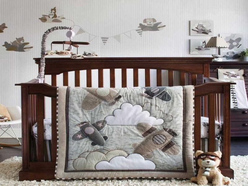 Picture of: Airplane Nursery Bedding