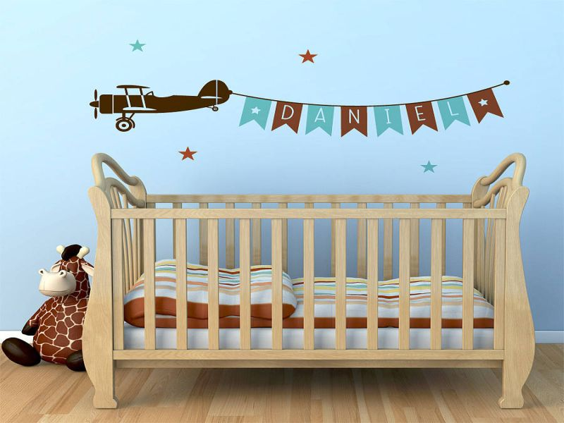 Picture of: Airplane Nursery Decoration