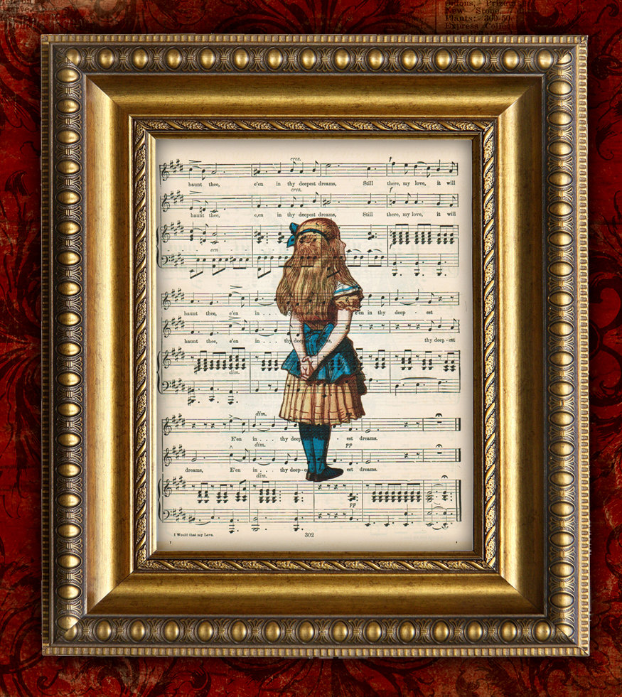 Picture of: Alice in Wonderland Nursery Art
