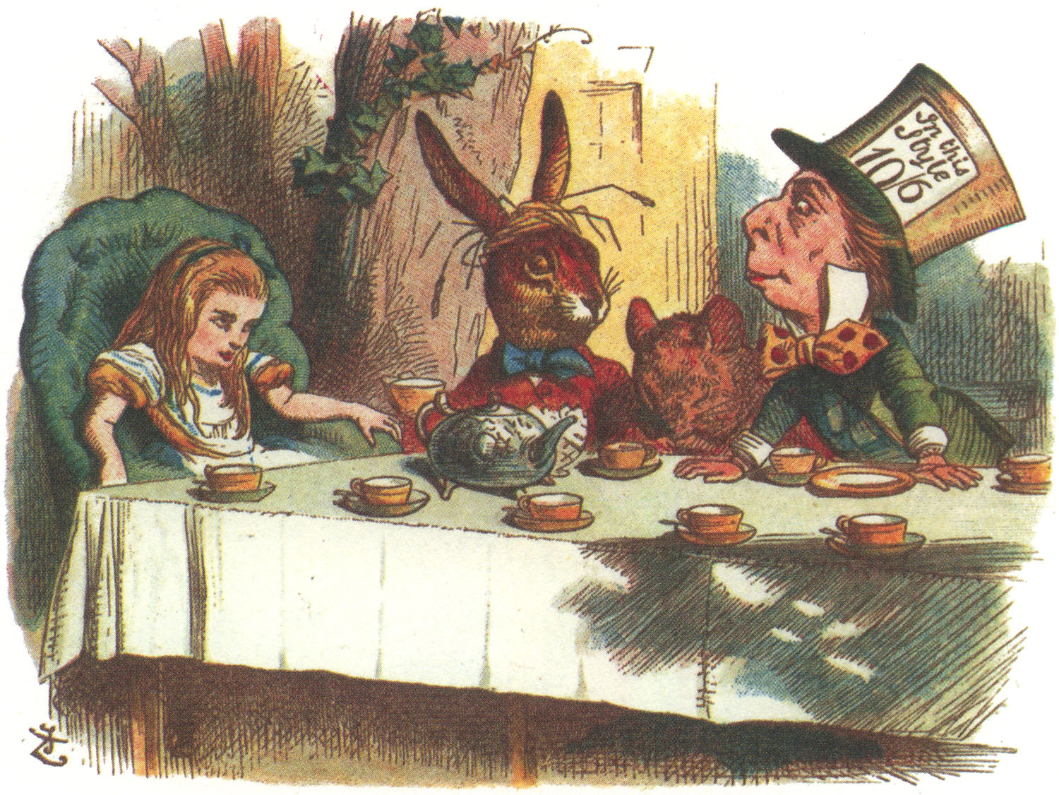Picture of: Alice in Wonderland Nursery Picture