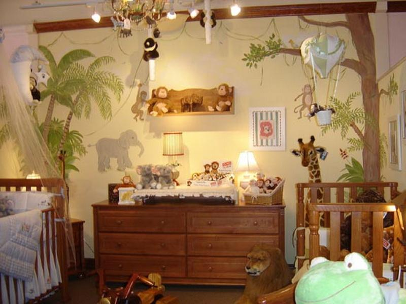 Image of: Animal Modern Nursery Themes