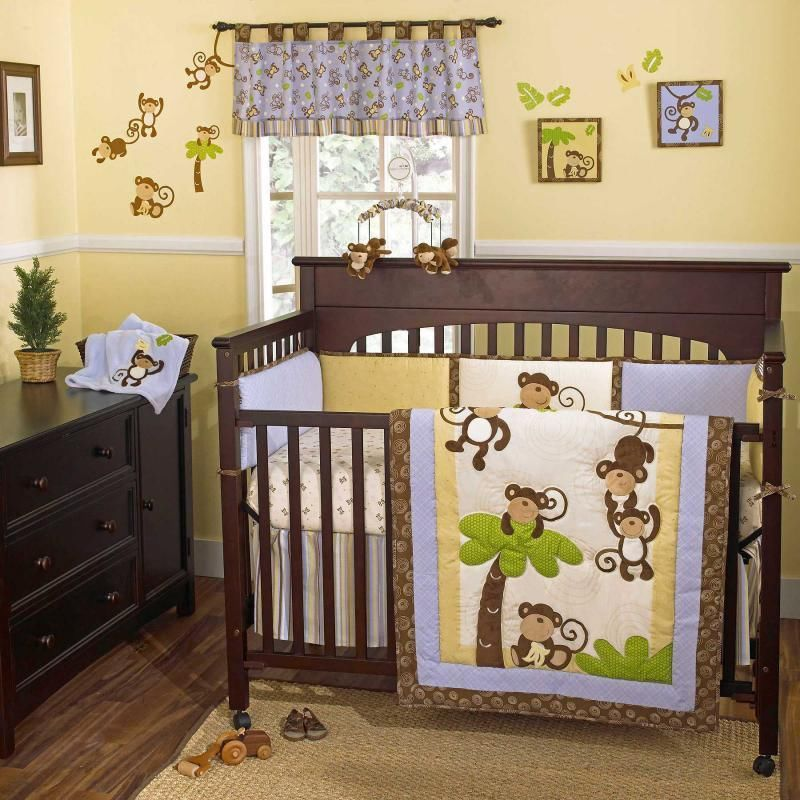 Image of: Animal Prints for Nursery Bedding Set