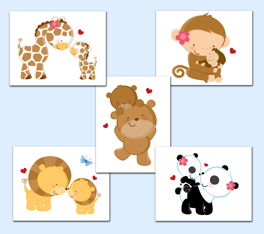Image of: Animal Prints for Nursery Decals Baby