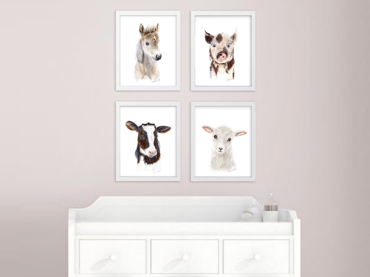 Image of: Animal Prints for Nursery Decor