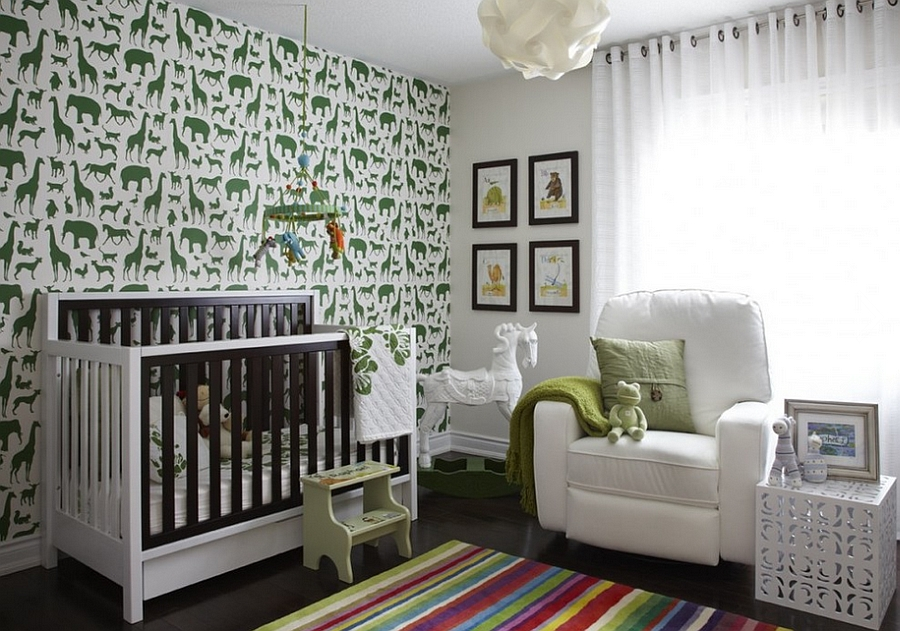 Image of: Animal Prints for Nursery Modern
