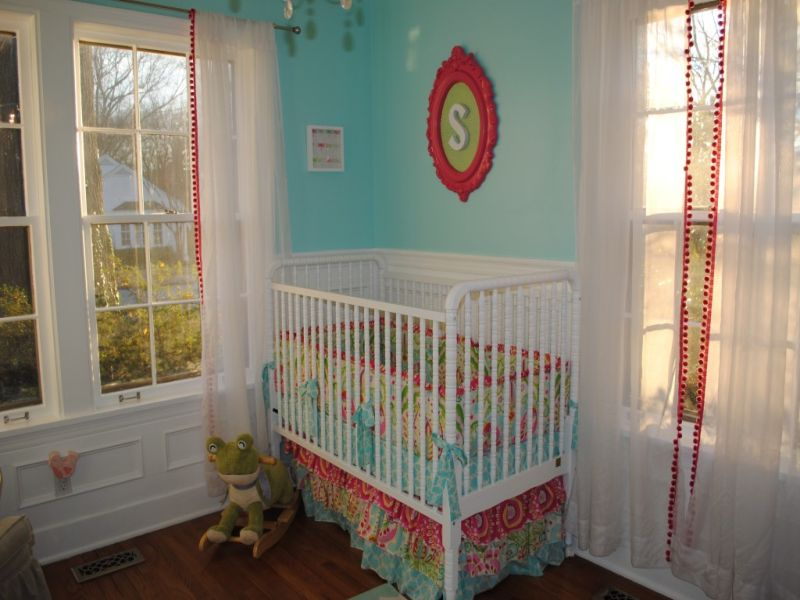 Image of: Aqua and Pink Nursery 2015