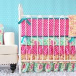 Aqua and Pink Nursery Attractive