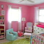 Aqua and Pink Nursery Beautiful