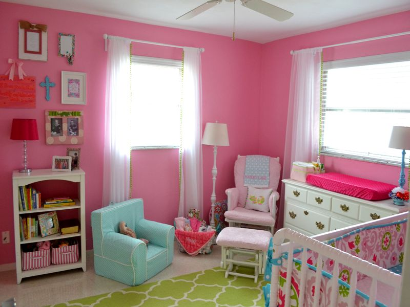 Image of: Aqua and Pink Nursery Beautiful
