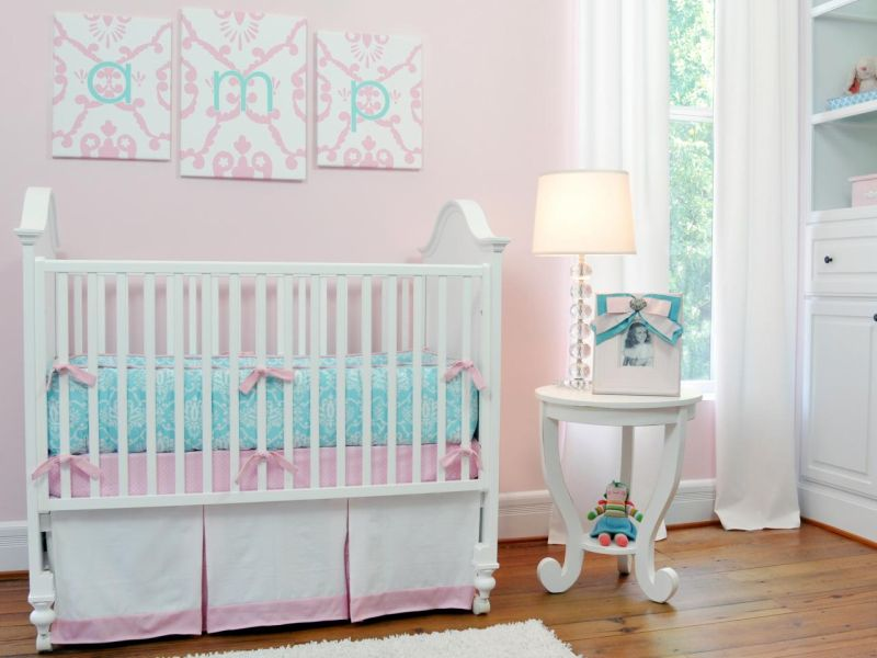Image of: Aqua and Pink Nursery Color