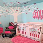 Aqua and Pink Nursery Decoration