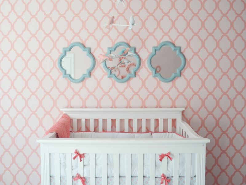 Image of: Aqua and Pink Nursery Inspiration