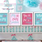 Aqua and Pink Nursery Love Mom