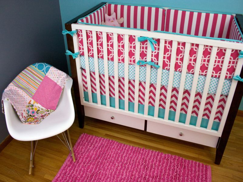 Image of: Aqua and Pink Nursery Popular Item