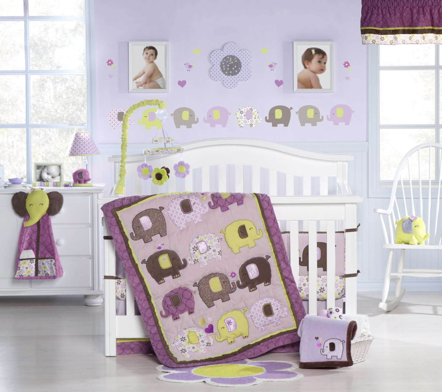 Picture of: Awesome Elephant Nursery Bedding