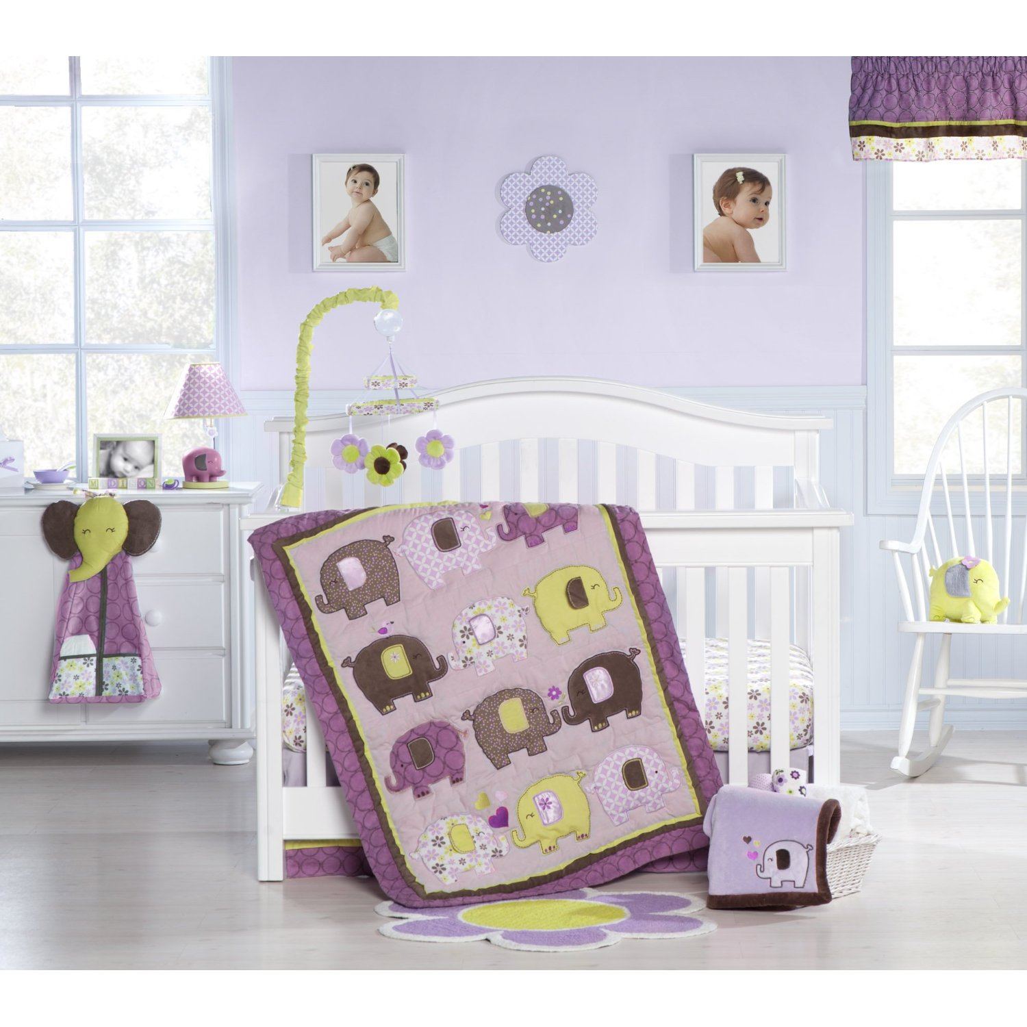 Image of: Baby Elephant Nursery Bedding Set