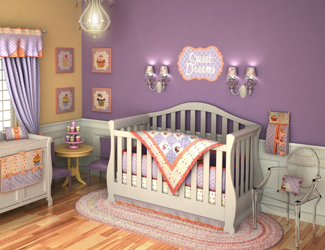 Picture of: Baby Girl Nursery Bedding Decor