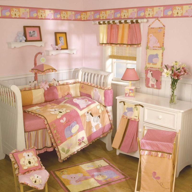Picture of: Baby Girl Nursery Bedding Design