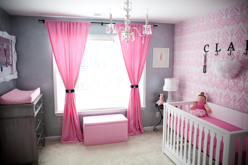 Image of: Baby Girl Nursery Themes Pink