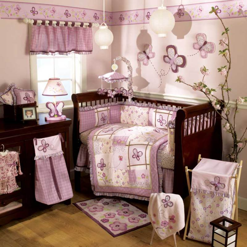 Image of: Baby Girl Nursery Themes Wall Decor