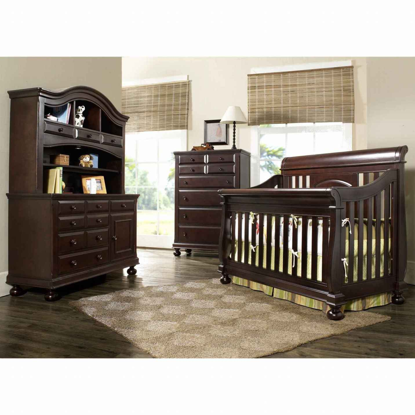 Image of: Baby Nursery Furniture Sets brown