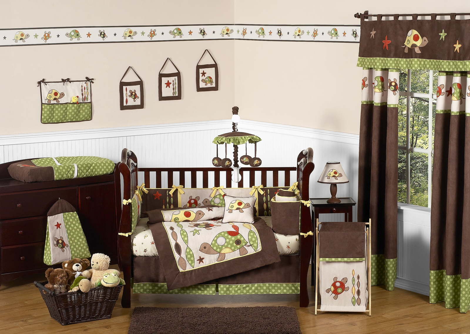 Image of: Baby Nursery Furniture Sets green