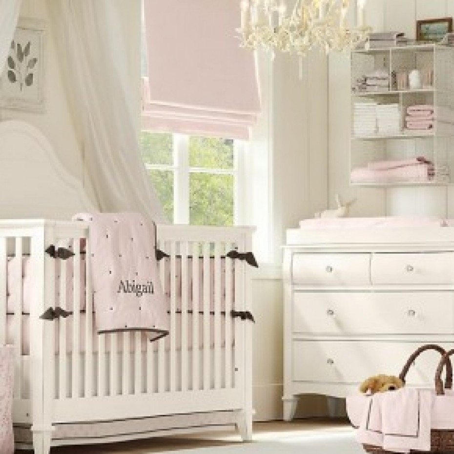 Image of: Baby Nursery Furniture Sets pink