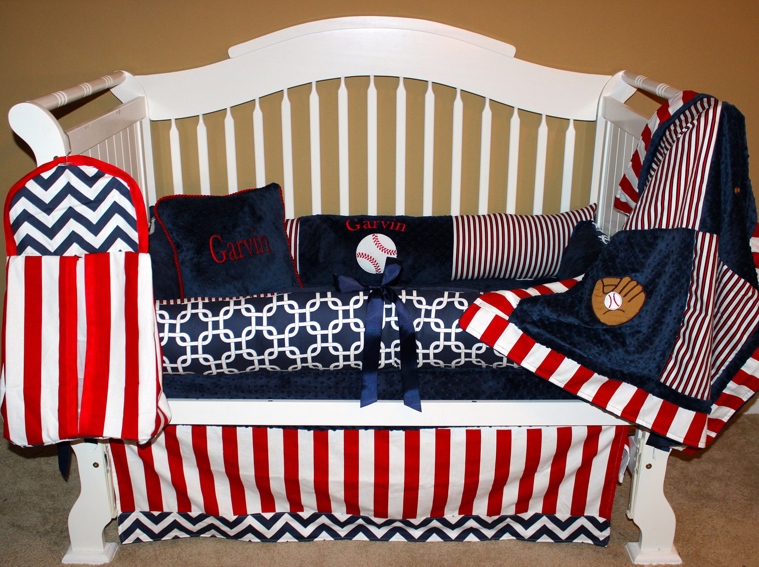 Picture of: Baseball Nursery Bedding