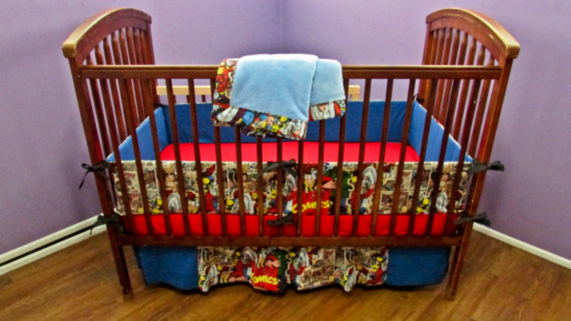 Picture of: Batman Nursery Bedding Design