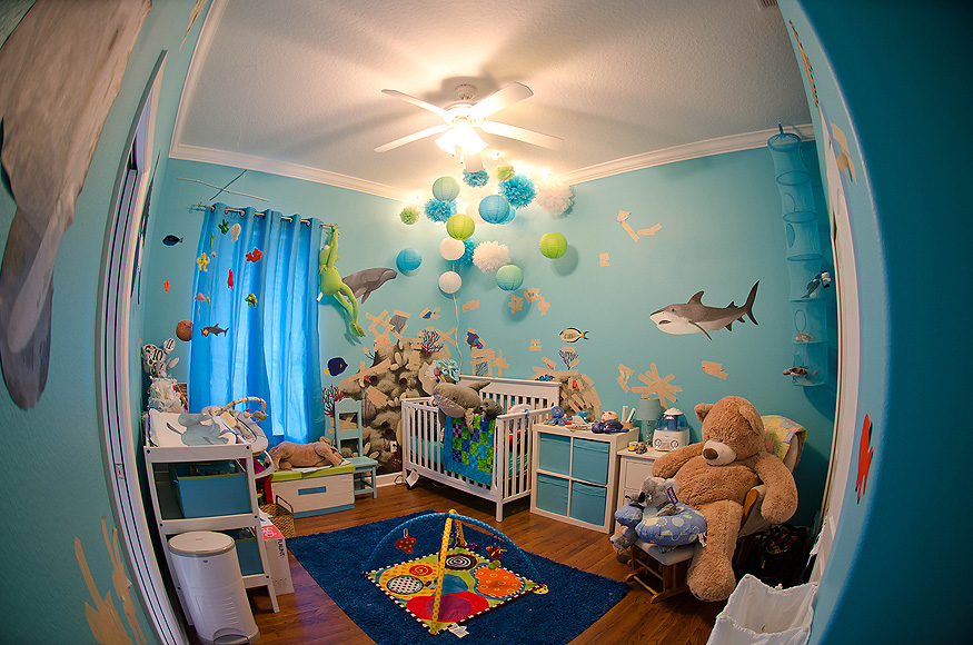 Beautiful Ocean Themed Nursery