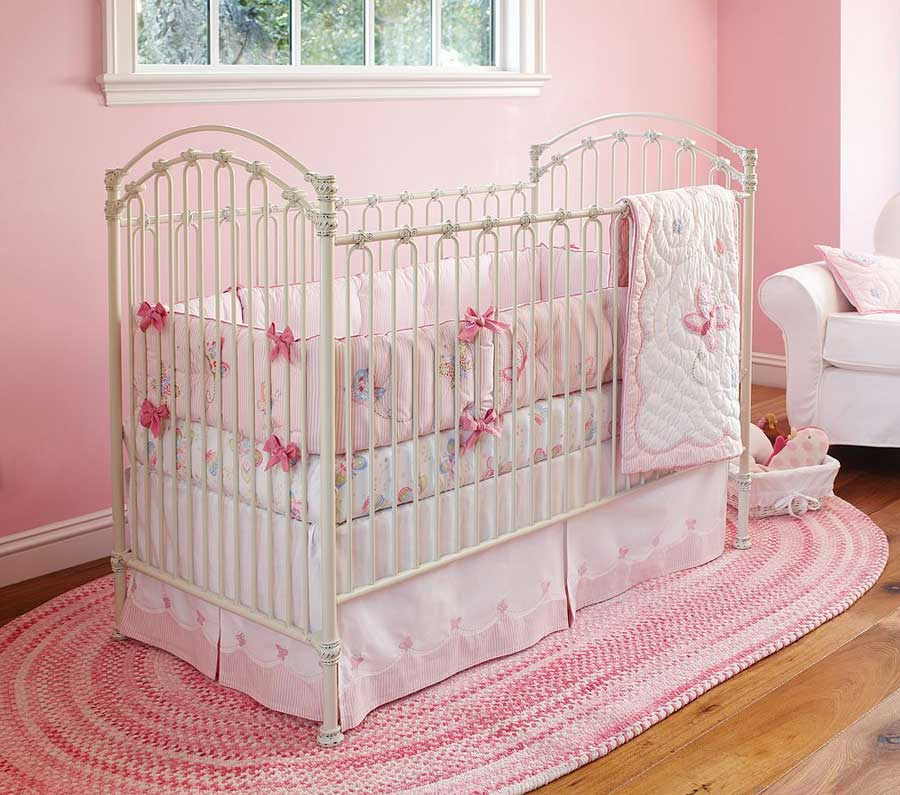 Picture of: Beautiful Pink Baby Girl Nursery Bedding