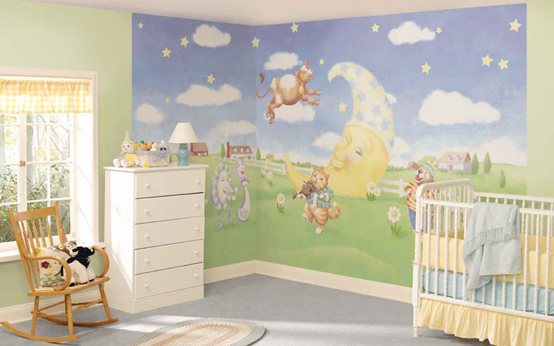 Image of: Best Nursery Murals Decor