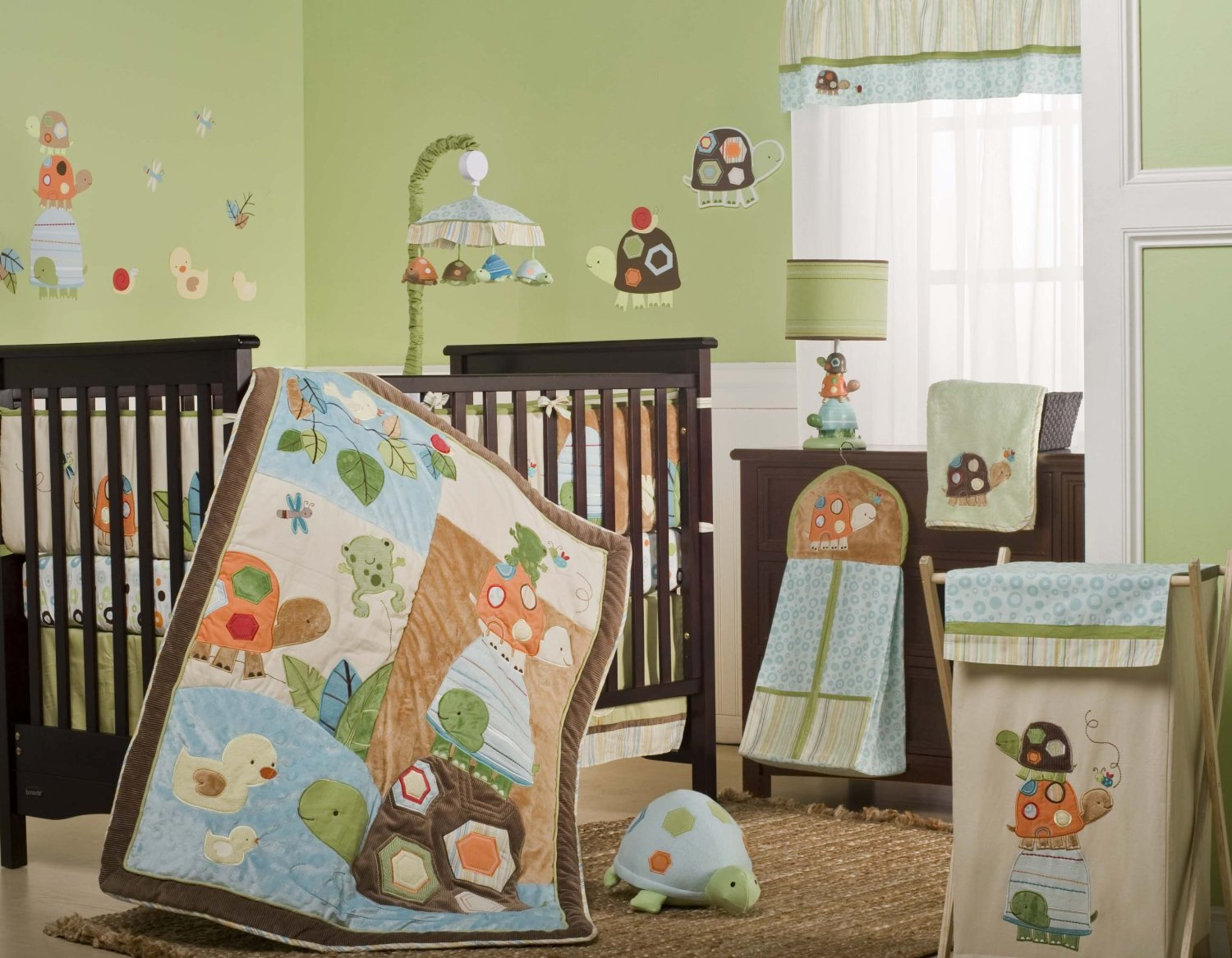 Image of: Best Turtle Nursery Bedding