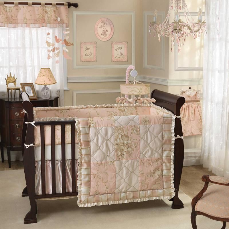 Picture of: Bird Nursery Bedding for Baby Girls