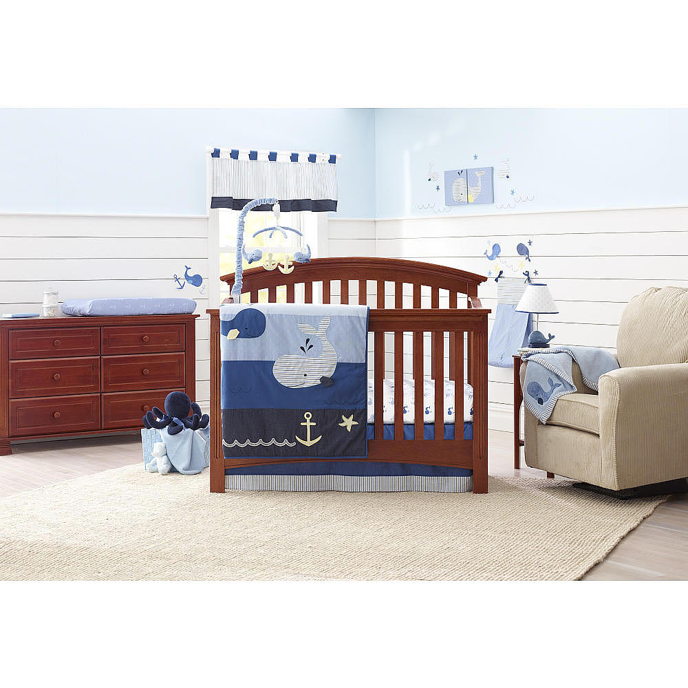 Image of: Blue Nautical Nursery Bedding