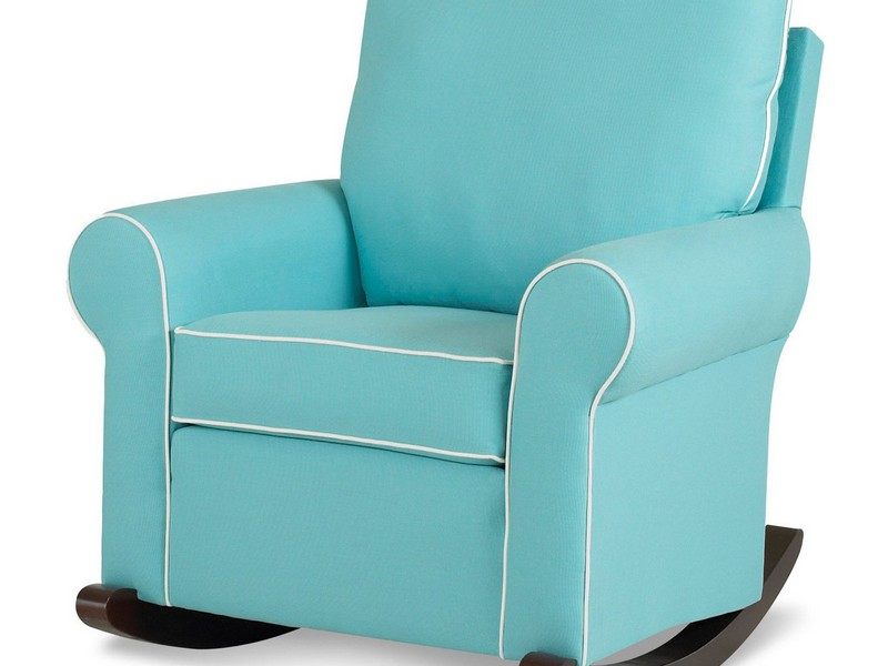 Image of: Blue Rocker Recliner Nursery